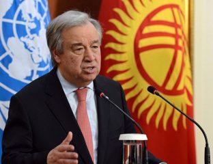 UN-Generalsekretär Guterres 2017 in Kirgistan
