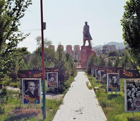 Chudschand Tadschikistan Lenin Statue Sowjetunion
