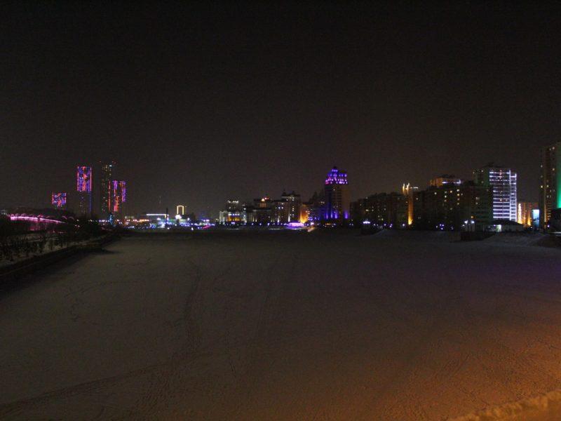 Astana Kasachstan Winter Ischim