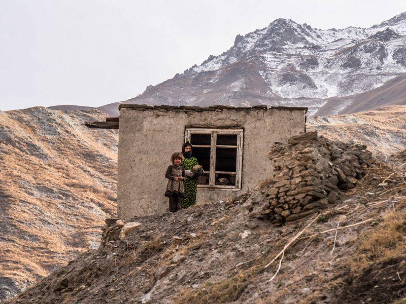 Mutter Kind Portrait Yaghnob-Tal Tadschikistan