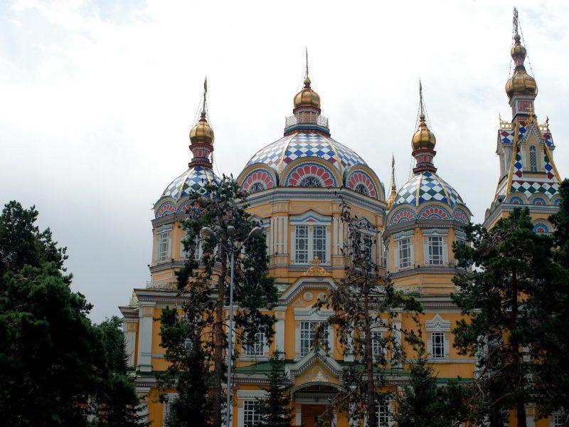 Christi-Himmelfahrt-Kathedrale Almaty Kasachstan Panfilow-Park Architektur