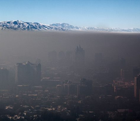 Smog über Almaty