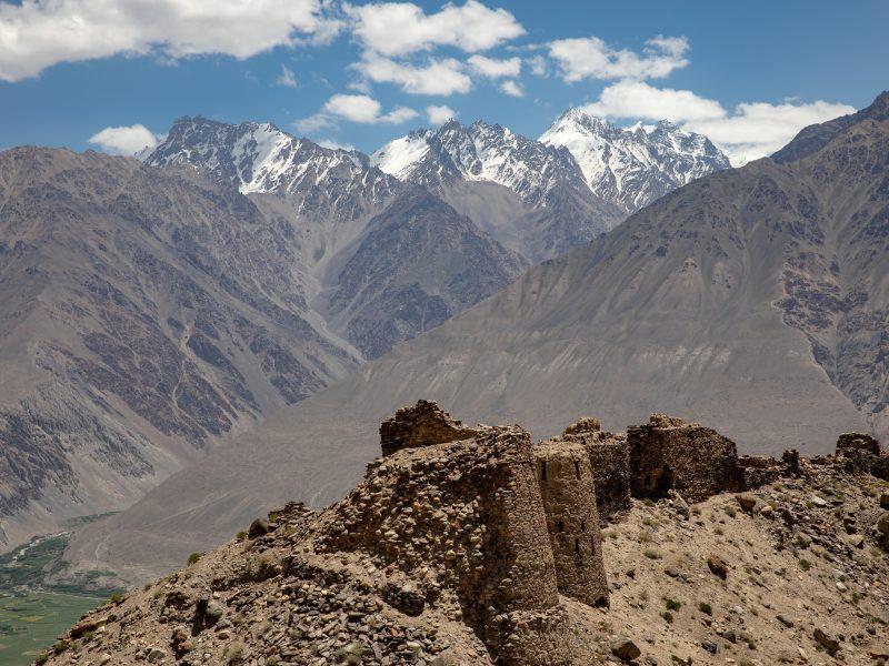 Yamchun Festung Wachankorridor Afghanistan Tadschikistan Bild des Tages