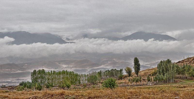Herbstpanorama Tschimgan Usbekistan Bild des Tages