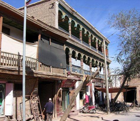 Ein Haus in der Altstadt von Kaschgar