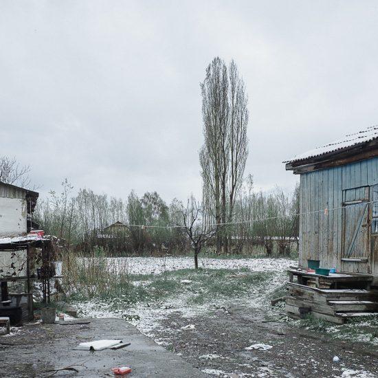Häuser Grigorievka Kirgistan Bild des Tages