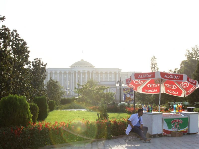 Gletscher Präsidentenpalast Duschanbe Tadschikistan Bild des Tages