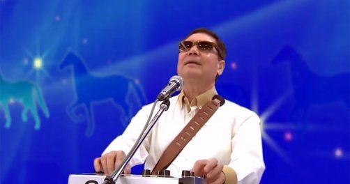 Turkmenistans Präsident Gurbanguly Berdymuchamedow beim Rappen