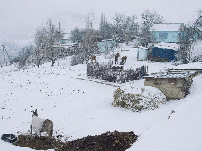 Haüser Mailuu-Suu Kirgisistan Bild des Tages Tien Tran