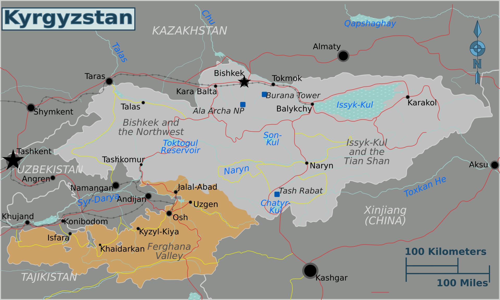Karte des Ferghanatals