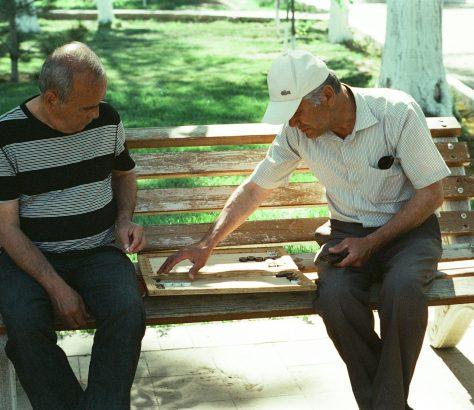 Backgammon Buchara Usbekistan Bild des Tages