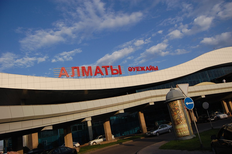 Das neue Terminal des Flughafens von Almaty