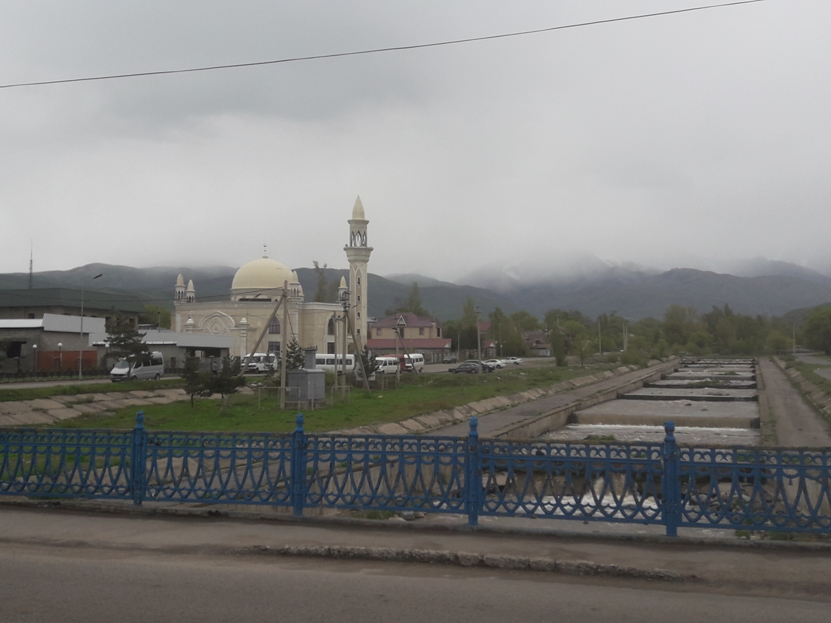 Blick über den Ort Issyk