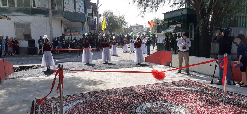 Feierliche Zeremonie zur Brückeneröffnung