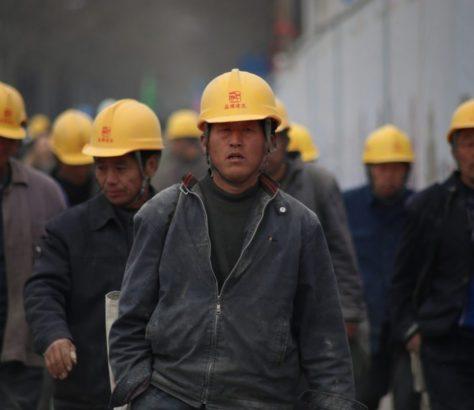 chinesische Bauarbeiter
