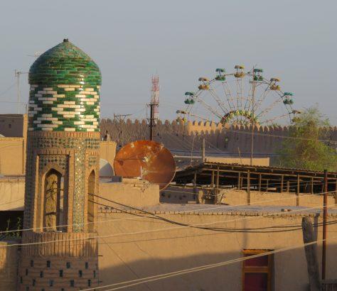 Bild des Tages Sowjetunion Usbekistan Minarett Chiwa