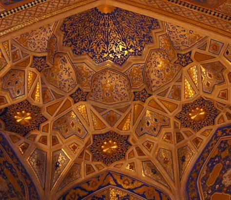 Decke der Goldenen Moschee in Samarkand
