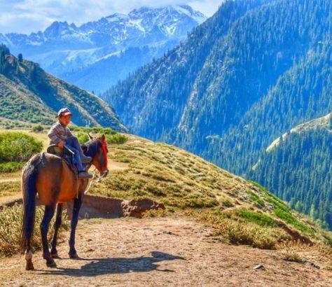 Jung Täler kirgisisch pferd kirgistan scheti-Ögüz