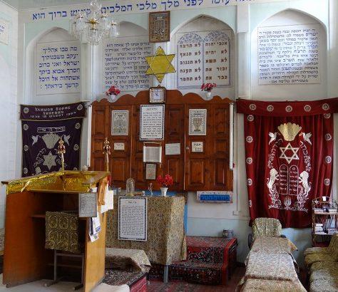 Im Inneren der Synagoge von Buchara