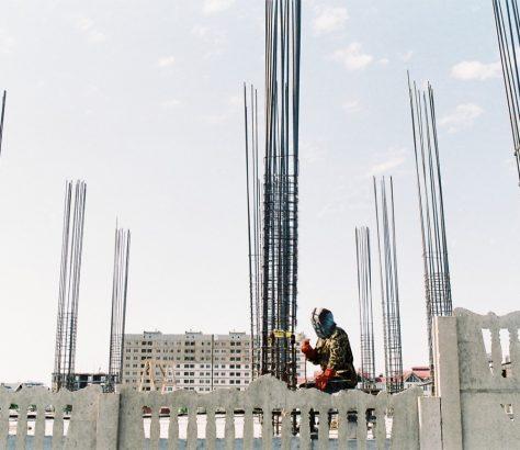 Schweißen Kirgistan Bischkek Baustelle