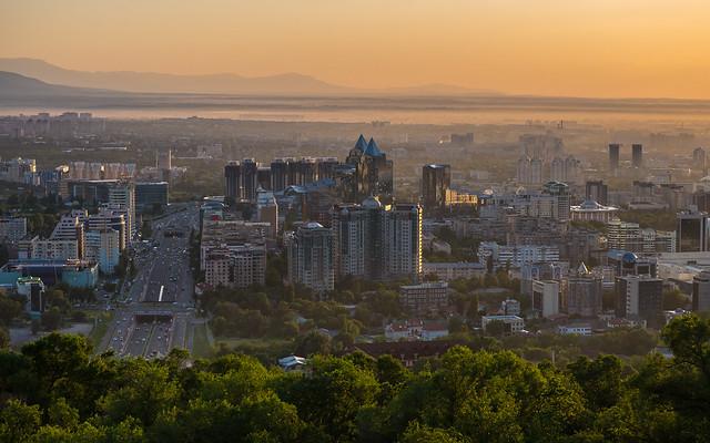 Blick auf Almaty