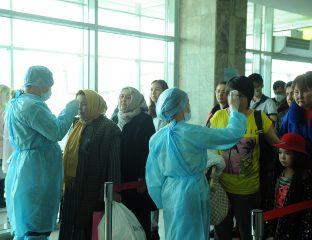Coronavirus Temperaturtests Kirgistan
