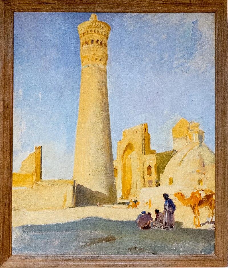 Pawel Benkow: Minaret Kalyan (aus der Sammlung des Kunstmuseum Nukus)