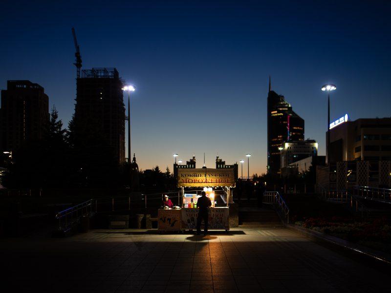 Der Nurzhol Boulevard am Abend