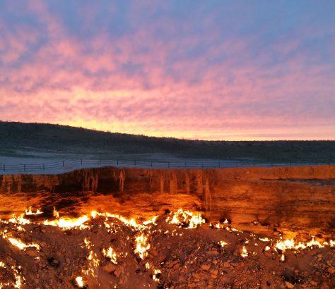 Turkmenistan Derweze Krater Karakum