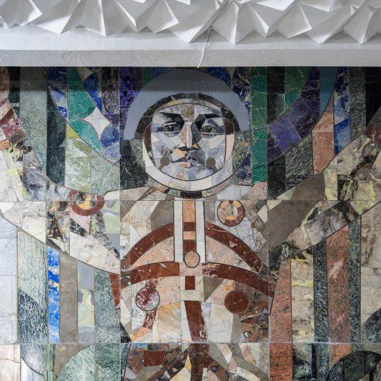 Kosmonaut Mosaik Fernsehturm Taschkent Usbekistan