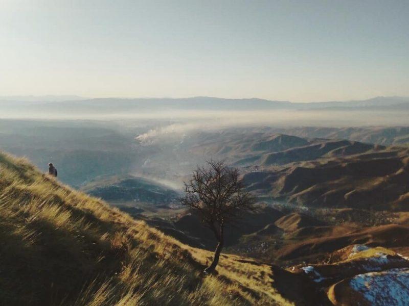 Tadschikistan Dushanbe Chorbogh Berg