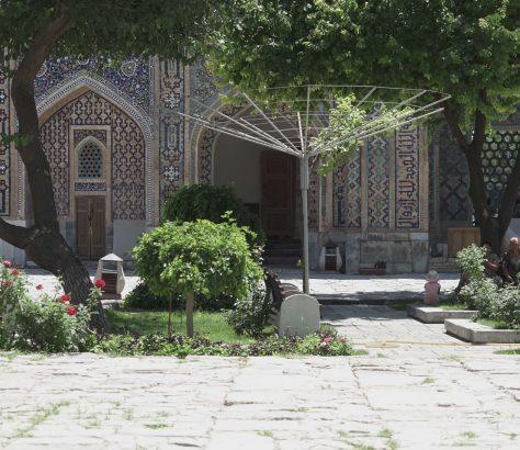 Samarkand Usbekistan Medrese Hitze