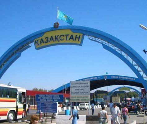 Korday Border Kazakhstan Kyrgyzstan