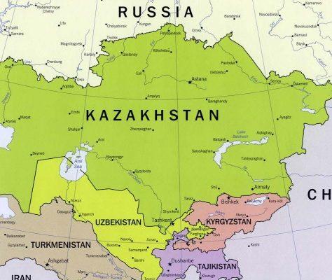 Karte Zentralasien