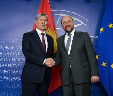 EU Kirgistan GSP Schultz Atambaev