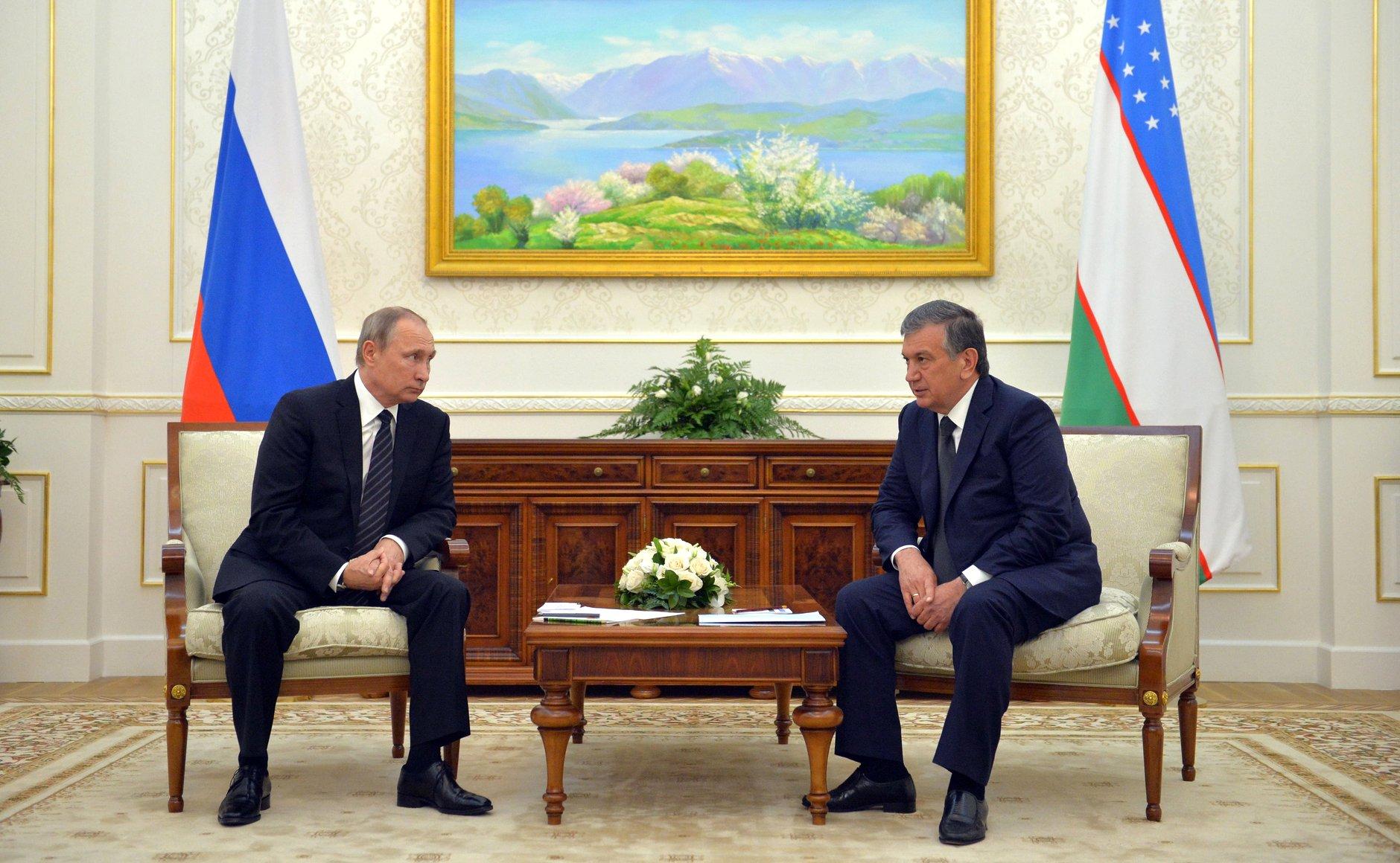 Rencontre entre Vladimir Poutine et Chavkat Mirzioïev