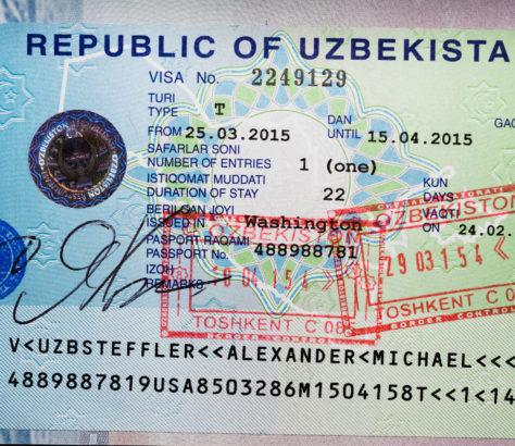 Visa ouzbekistan Sortie