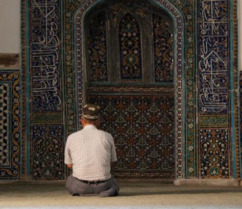 Prière Samarcande Ouzbékistan