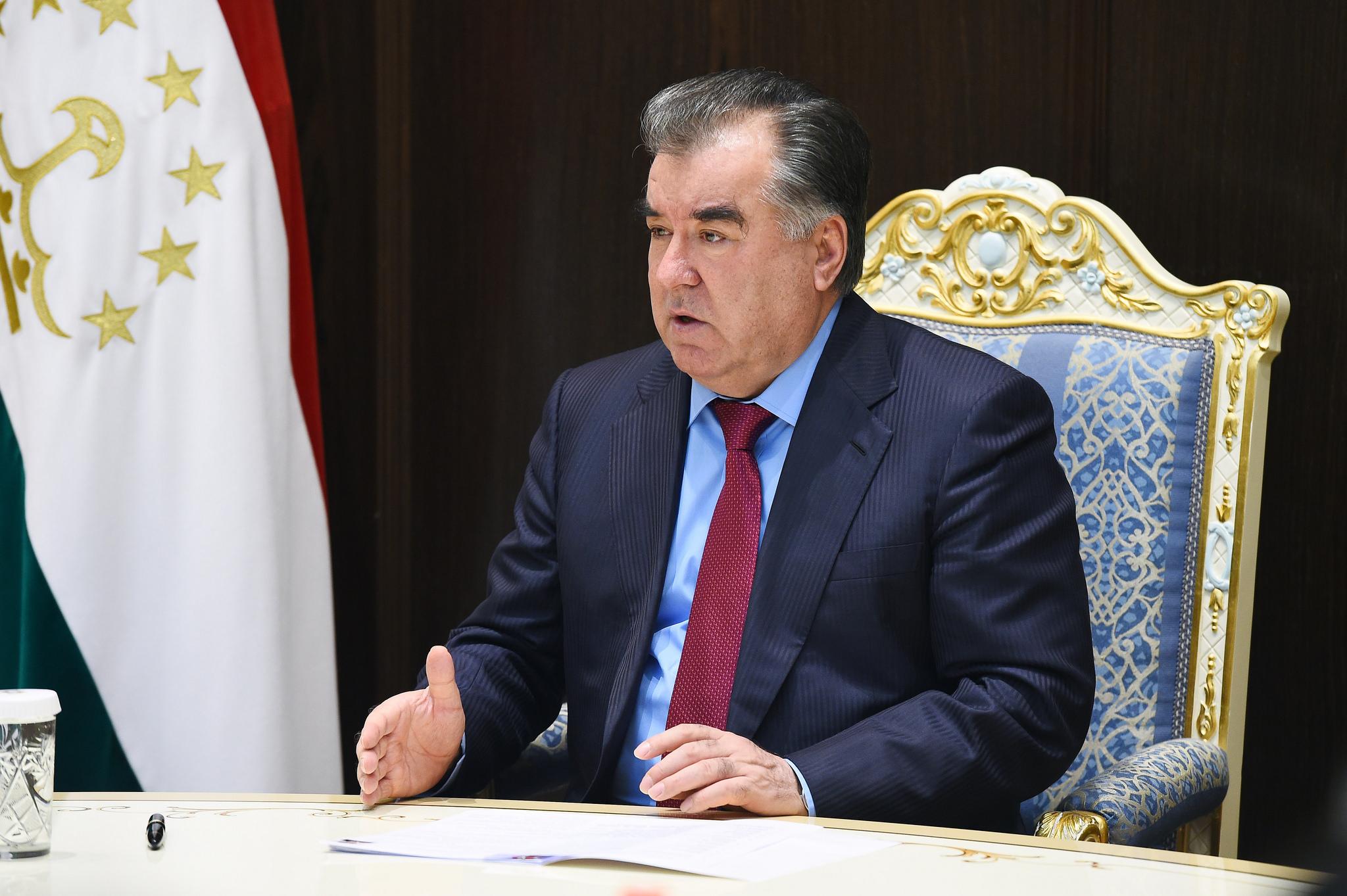 Emomalii Rahmon Président Tadjikistan
