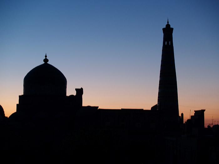 Coucher de soleil sur Khiva