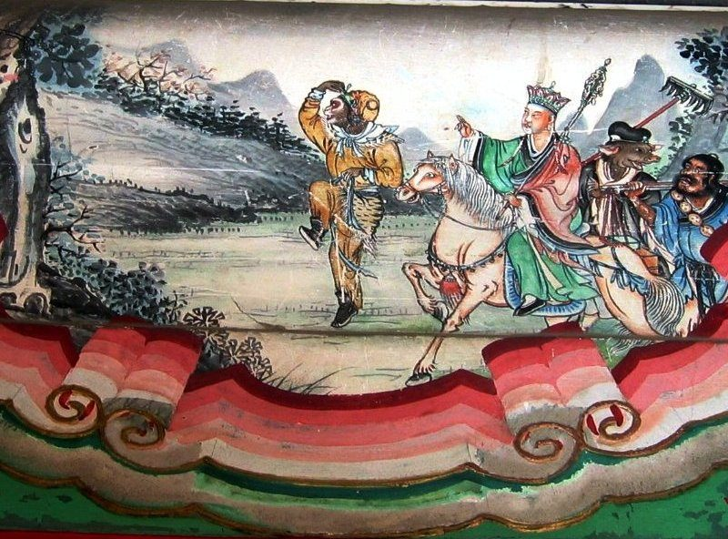 Xuanzang Fresque Chine Asie Centrale