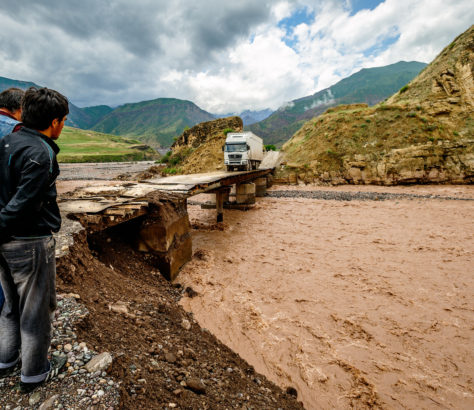 Rivière Piandj Tadjikistan traversée