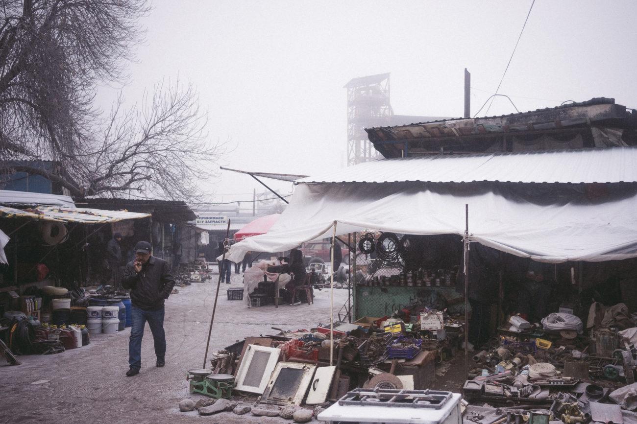 Marché Ouzbékistan Tachkent Brouillard