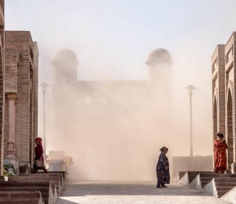 Tempête de sable au Tadjikistan