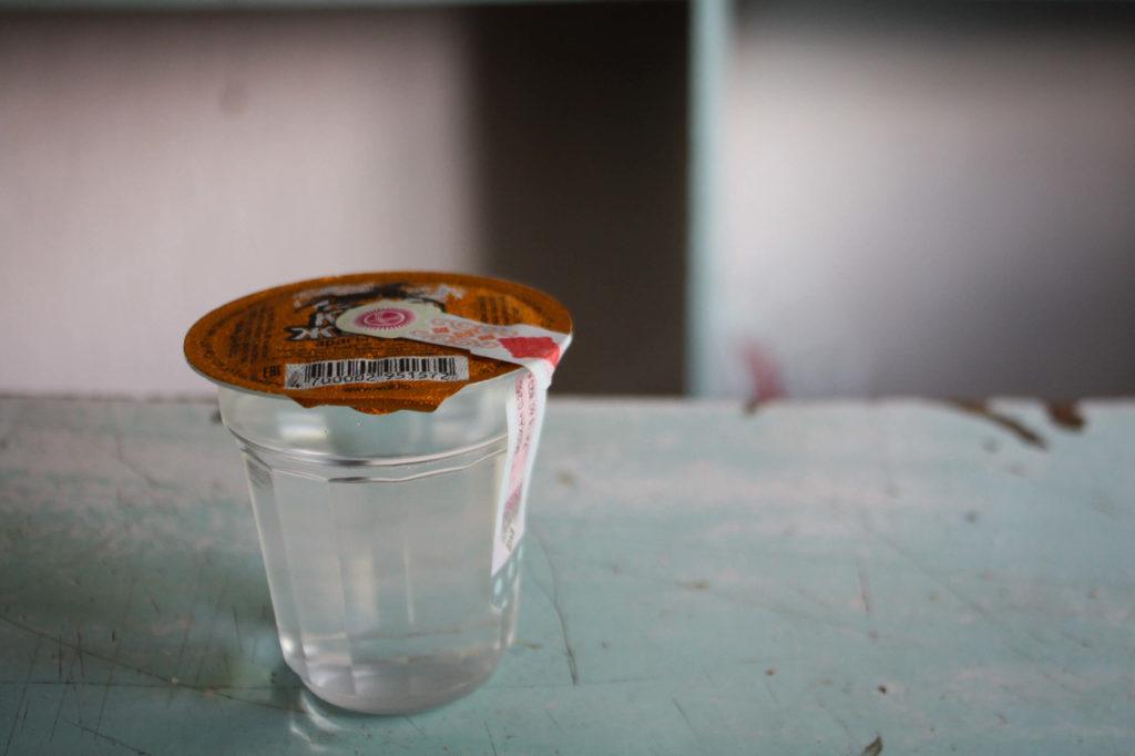 Vodka verre plastique Kirghizstan