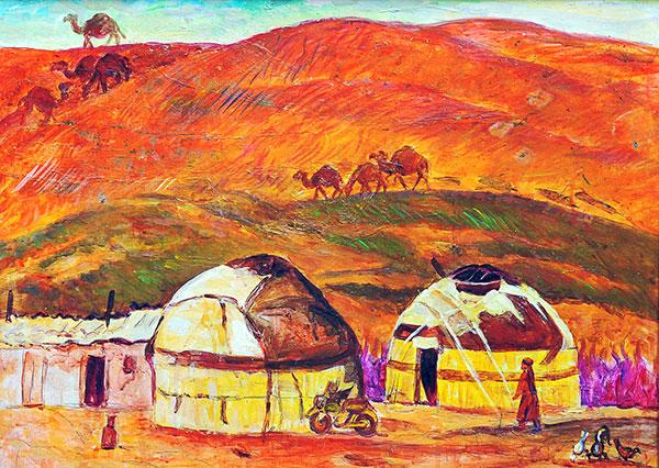 Tchari Amangueldyev Peinture