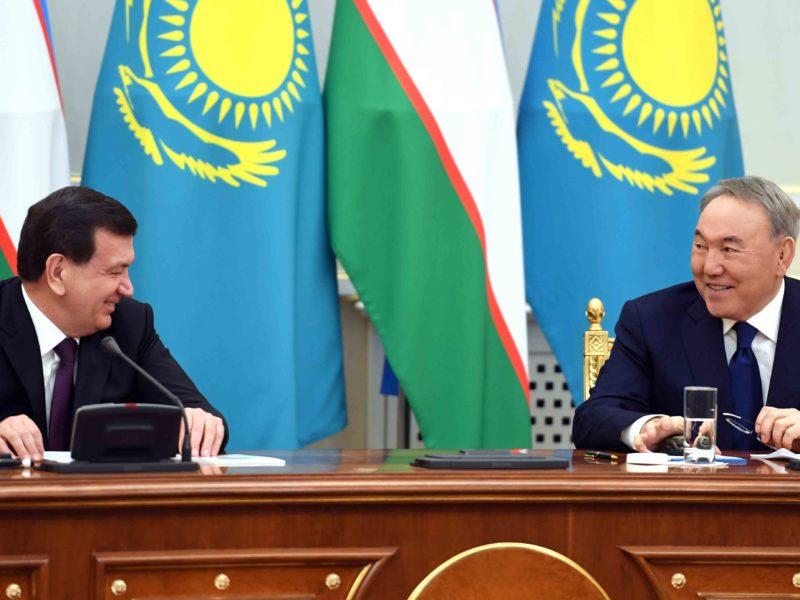 Chavkat Mirzioïev Noursoultan Nazarbaïev Visite Kazakhstan Astana