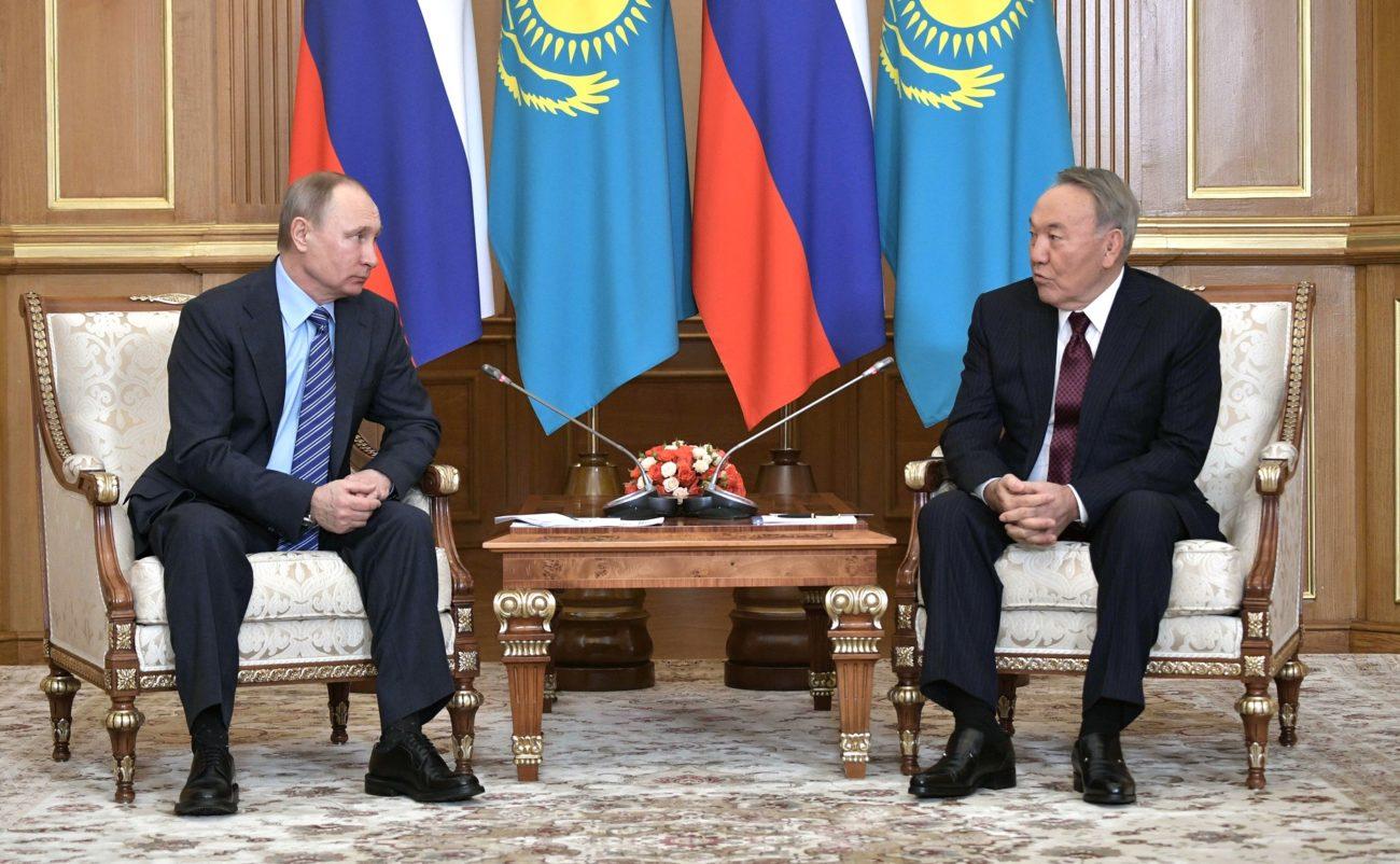 Vladimir Poutine Noursoultan Nazarbaïev Kazakhstan Russie