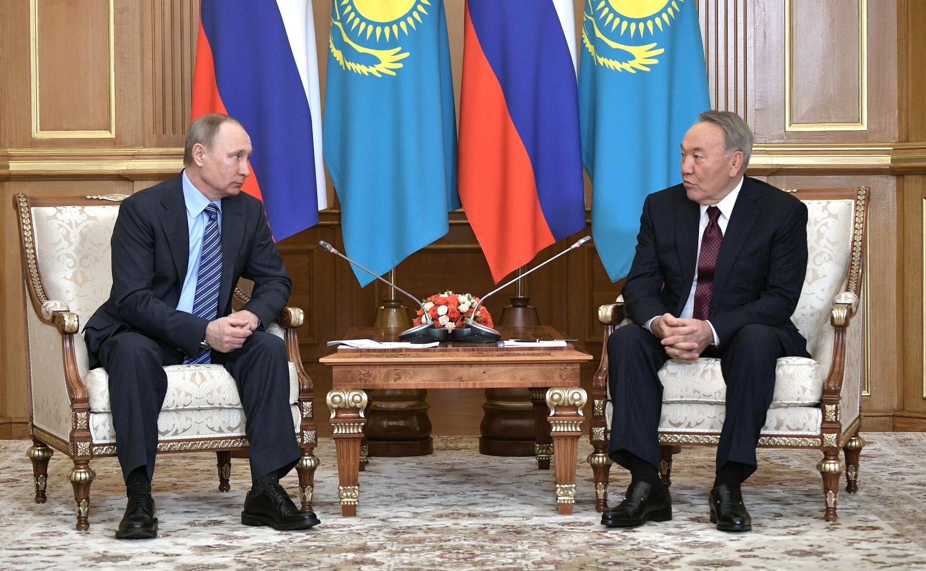 Poutine Nazarbaïev Kazakhstan