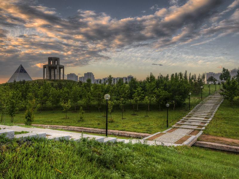 Astana Kazakhstan Parc Coucher de soleil
